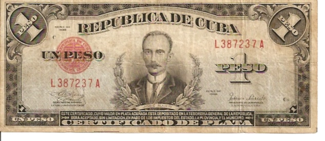 National Bank of Cuba  1 Peso  1992-1993 Issue Dimensions: 200 X 100, Type: JPEG