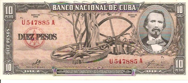 National Bank of Cuba  10 Peso  1992-1993 Issue Dimensions: 200 X 100, Type: JPEG