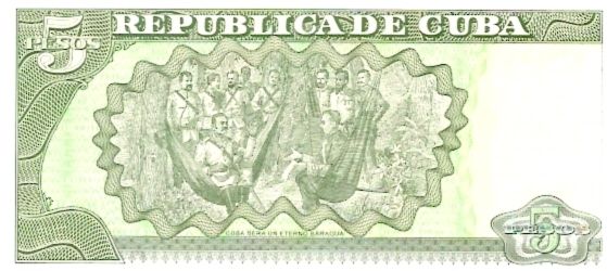 National Bank of Cuba  5 Peso  1992-1993 Issue Dimensions: 200 X 100, Type: JPEG