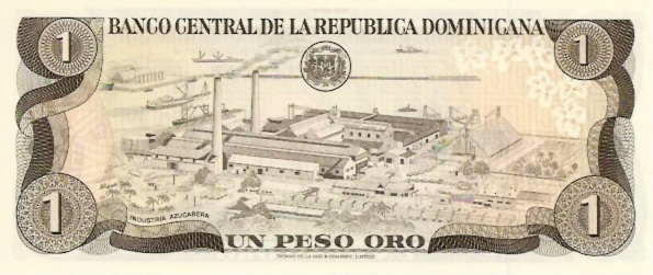 Banco Central DE LA Dominica Republic  1 Peso  1977 - 1980 ND Issue Dimensions: 200 X 100, Type: JPEG