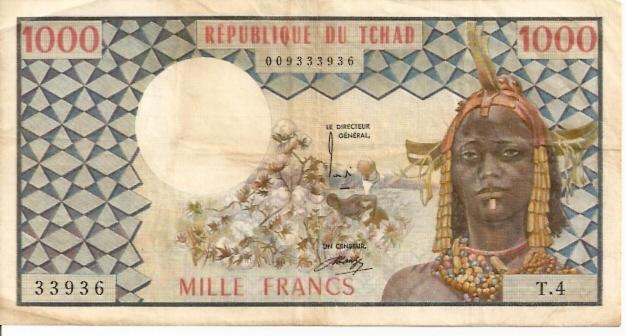 Banque Centrale Des Estats De L'Afrique   1000 Francs   1961 ND Issue  Chad Dimensions: 200 X 100, Type: JPEG