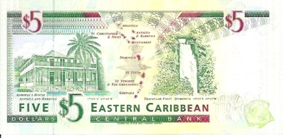 East Caribbean Currency Authority  5 Dollars  1994 ND Issue  Antigua Dimensions: 200 X 100, Type: JPEG