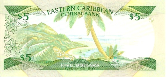 East Caribbean Currency Authority  5 Dollars  1994 ND Issue  Granada Dimensions: 200 X 100, Type: JPEG