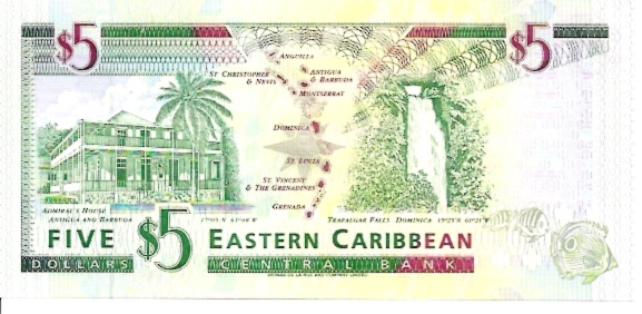 East Caribbean Currency Authority  5 Dollars  1994 ND Issue  Montserrat Dimensions: 200 X 100, Type: JPEG