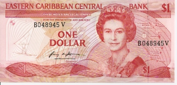 East Caribbean Currency Authority  1 Dollar  1994 ND Issue  St. Vincent Dimensions: 200 X 100, Type: JPEG