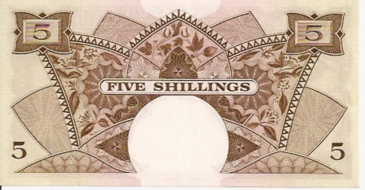 East African Currency Boad  5 Schilling   1961 ND Issue Dimensions: 200 X 100, Type: JPEG