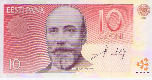 Bank of Estonia  10 Kroons  1991-1992 Issue Dimensions: 200 X 100, Type: JPEG