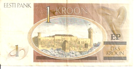 Bank of Estonia  1 Kroon  1991-1992 Issue Dimensions: 200 X 100, Type: JPEG