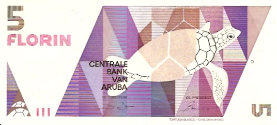 Centrale Bank VAN Aruba  5 Florin  Date Issued: Jan-01-1990 Dimensions: 200 X 100, Type: JPEG