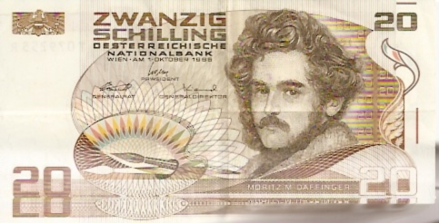 Austrian National Bank  20 Schilling  Date Issued: Oct-01-1986 Dimensions: 200 X 100, Type: JPEG