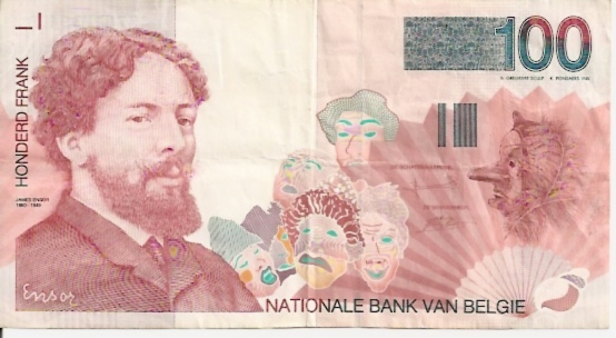 Nationale Bank Van Belgie  100 Francs  1994-1997 Series Dimensions: 200 X 100, Type: JPEG