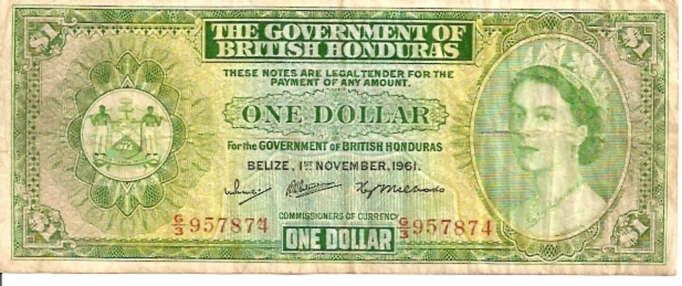 Government of British Honduras  1 Dollar  1953 Issue Dimensions: 200 X 100, Type: JPEG