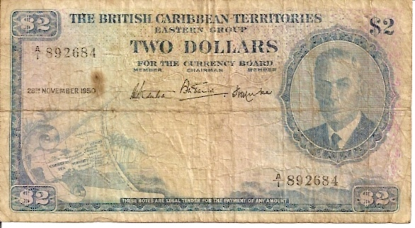 British Administration  2 Dollars  1953 Issue Dimensions: 200 X 100, Type: JPEG