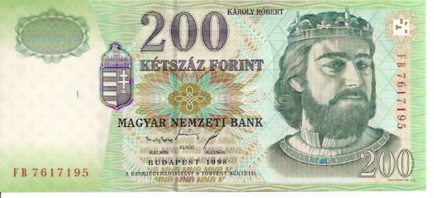 Hungarian National Bank  200 Forint  1975-1983 Issue Dimensions: 200 X 100, Type: JPEG