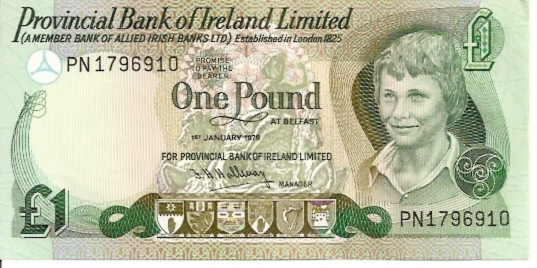 Allied Irish Bank Ltd  1 Pound  1982 Issue Dimensions: 200 X 100, Type: JPEG
