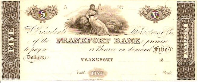 Bank fo Franfurt   5 Dollar  1863 Issue  Not in circulation anymore  AKA - Broken Notes Dimensions: 200 X 100, Type: JPEG