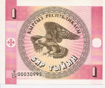 Kyrgyz Republic  1 Tylyn  1993 ND Issue   Dimensions: 200 X 100, Type: JPEG