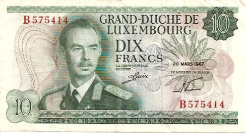 International Bank in Luxembourg  10 Francs  1961-1963 Issue Dimensions: 200 X 100, Type: JPEG