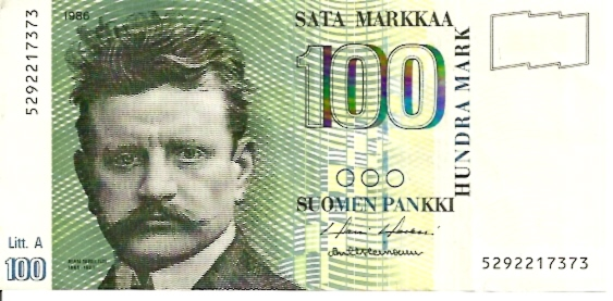 Suomen Pankki - Finlands Bank  100 Mark  1983 Dated Issue Dimensions: 200 X 100, Type: JPEG