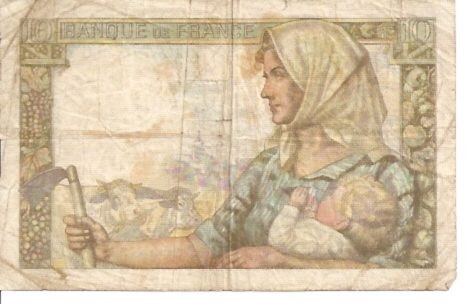 Banque DE France  10 Francs  1962 Issue Dimensions: 200 X 100, Type: JPEG