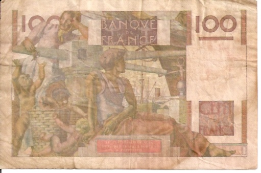 Banque Du France  100 Francs  1962 ND Issue Dimensions: 200 X 100, Type: JPEG