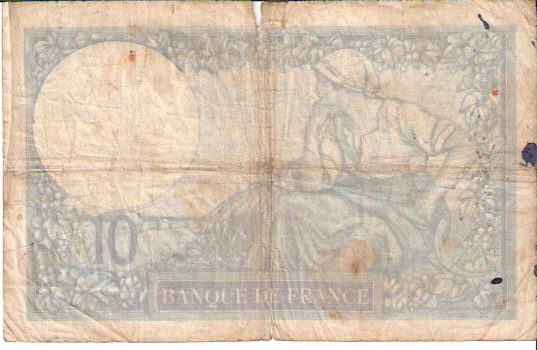 Banque DE France  10 Francs  1962 Issue Dimensions: 200 X 100, Type: JPEG