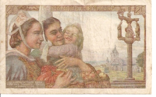 Banque DE France  20 Francs  1962 Issue Dimensions: 200 X 100, Type: JPEG