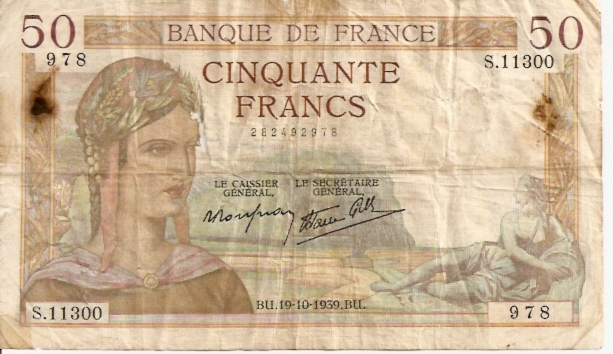 Banque DE France  50 Francs  1962 Issue Dimensions: 200 X 100, Type: JPEG