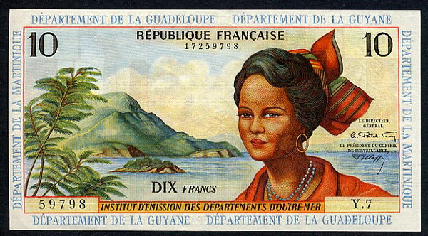 Depaertment Del La Guyane  10 Francs  No Date Issue Dimensions: 200 X 100, Type: JPEG