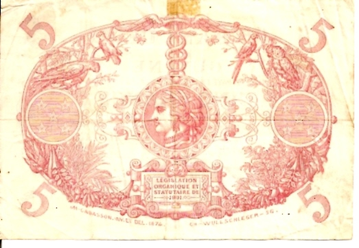 Banque De La Guyana  5 Francs  No Date Issue Dimensions: 200 X 100, Type: JPEG