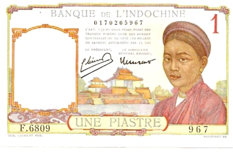 Banque De L'Indochina  1 Piastres  No Date Issue Dimensions: 200 X 100, Type: JPEG