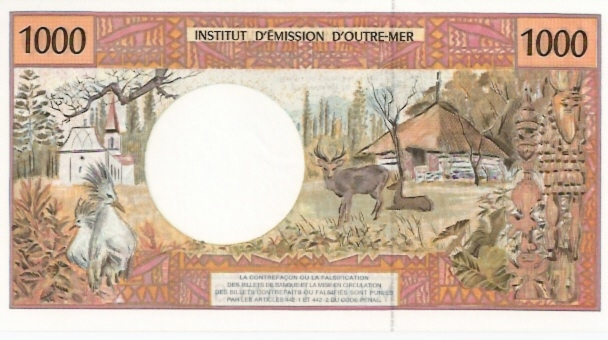 Institut D'Emmision Douter Mer  1000 Francs  No Date Issue Dimensions: 200 X 100, Type: JPEG