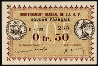 Government General De La O F  0.5 Francs  No Date Issue  Not Mine - Ron Wise Dimensions: 200 X 100, Type: JPEG