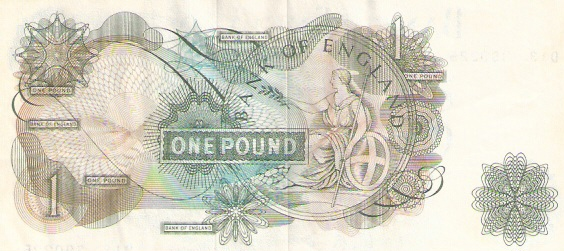 Bank of England  1 Pound  1960-1964 ND Issue Dimensions: 200 X 100, Type: JPEG