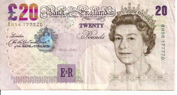 Bank of England  20 Pound  1993-1996 ND Issue Dimensions: 200 X 100, Type: JPEG