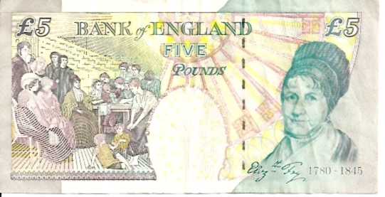 Bank of England  5 Pound  1990-1992 ND Issue Dimensions: 200 X 100, Type: JPEG