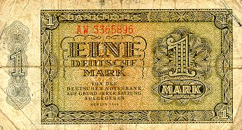 Deutschen Notenbank  1 Mark  1948 Issue Dimensions: 200 X 100, Type: JPEG