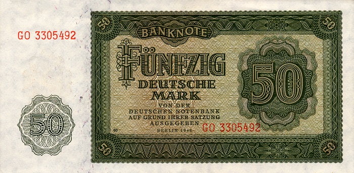 Deutschen Notenbank  50 Marks  1948 Issue Dimensions: 200 X 100, Type: JPEG