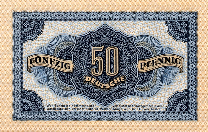 Deutschen Notenbank  50 Pfennig  1948 Issue Dimensions: 200 X 100, Type: JPEG