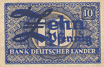 Bank Deutscher Lander  10 Pfennig  1948 Issue Dimensions: 200 X 100, Type: JPEG