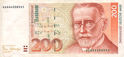 Bank Deutscher Lander  200 Marks   1989 Issue Dimensions: 200 X 100, Type: JPEG