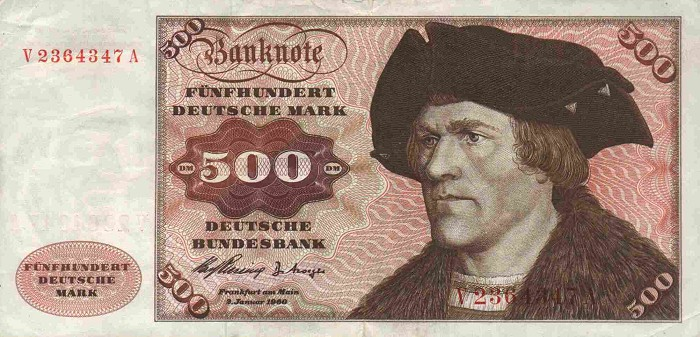 Bank Deutscher Lander  500 Marks   1960 Issue Dimensions: 200 X 100, Type: JPEG