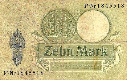 Reichsschuldenverwaltung  10 Marks  1906 Issue Dimensions: 200 X 100, Type: JPEG