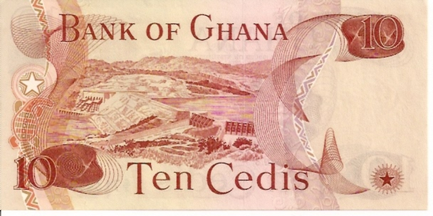 Bank of Ghana  10 Cedis  1972-1973 Issue Dimensions: 200 X 100, Type: JPEG