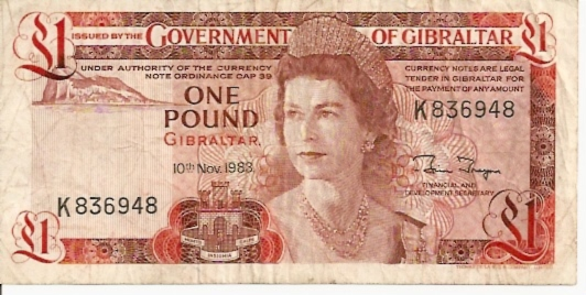 Government of Gibraltar  1 Pound  1975-1986 Issue Dimensions: 200 X 100, Type: JPEG