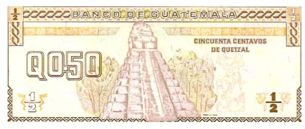 Banco De Guatemala  0.5 Quetzal  1969-1975 Issue Dimensions: 200 X 100, Type: JPEG