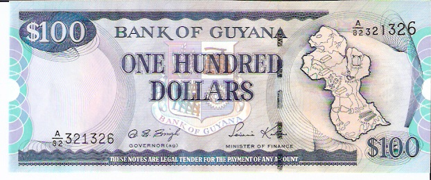 Bank of Guyana  100 Dollar  1996 ND Issue Dimensions: 200 X 100, Type: JPEG