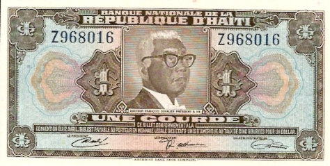 Banque DE LA Republique D'Haiti  1 Gourde  1919 Issue Dimensions: 200 X 100, Type: JPEG
