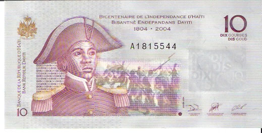 Banque DE LA Republique D'Haiti  10 Gourde  2004 Issue Dimensions: 200 X 100, Type: JPEG