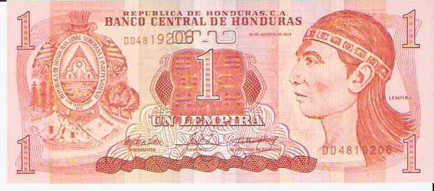 Banco Central DE Honduras  1 Lempera  1981 Issue Dimensions: 200 X 100, Type: JPEG